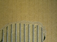 Cardboard corrugated and teared texture Stock Photo