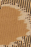 Cardboard Corrugated Torn Grunge Texture Sample Royalty Free Stock Photography