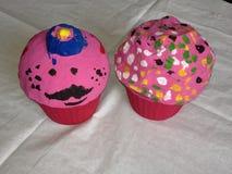 Cardboard Cup Cakes Stock Photos