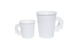 Cardboard cups for hot and cold drinks Royalty Free Stock Photos