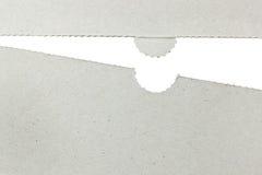 Cardboard cut-off form Stock Image
