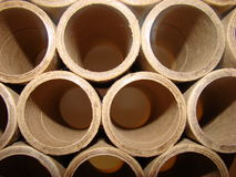 Cardboard cylinder tubes Royalty Free Stock Images