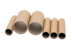 Cardboard cylinders Stock Image