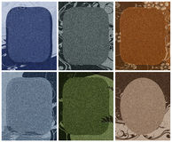Cardboard deco backgrounds Royalty Free Stock Images