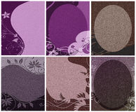 Cardboard deco backgrounds Stock Images