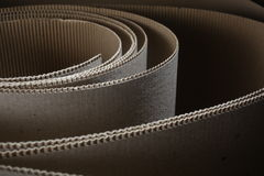 Cardboard detail. Detail of cardboard paper waves as an abstract form Stock Photography