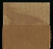 Cardboard detail. Old Cardboard Scrap. Old torn cardboard paper. Corrugated cardboard texture. Image of cardboard texture. Good design element. A carton board Stock Photography