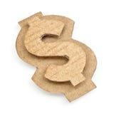 Cardboard dollar sign. On white background Stock Photo