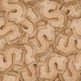 Cardboard dollar sign seamless texture. Cardboard dollar sign seamless pattern abstract background Stock Images