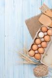 Cardboard egg box royalty free stock photography