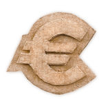 Cardboard euro sign Royalty Free Stock Image