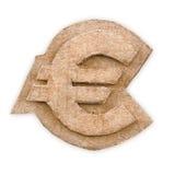 Cardboard euro sign. On white background Royalty Free Stock Image