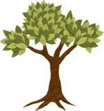 Cardboard felt tree Stock Images