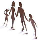 Cardboard figures of the family Royalty Free Stock Image