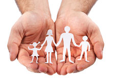 Cardboard Figures Of The Family Royalty Free Stock Images