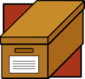 Cardboard file box. Illustration of a cardboard file box Stock Images