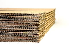 Cardboard Flatpack Boxes II Stock Images