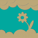 Cardboard flower Stock Photo
