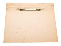 Cardboard folder Stock Image