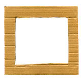 Cardboard frame Stock Photography