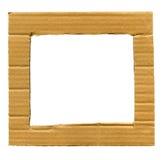 Cardboard frame Stock Photography