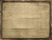 Cardboard Frame With Borders Background. Carboard frame with steel texture borders in brown tones royalty free stock images