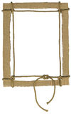 Cardboard frame for photos with a rope Royalty Free Stock Image