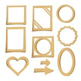 Cardboard frames Royalty Free Stock Photos