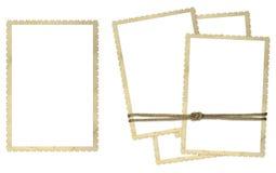 Cardboard frames for photos Stock Photo