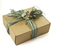 Cardboard gift box Stock Photography
