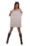 Cardboard girl Royalty Free Stock Photography