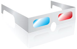 Cardboard glasses Stock Image