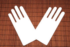 Cardboard hands Royalty Free Stock Images