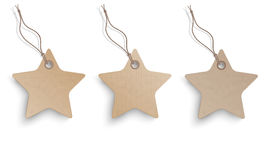 3 Cardboard Hanging Star Price Stickers Set Stock Photography