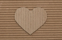 Cardboard heart Stock Photos