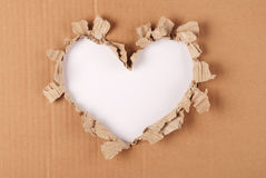 Cardboard heart background Royalty Free Stock Images