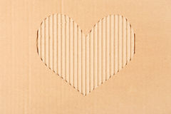 Cardboard heart background Royalty Free Stock Photography