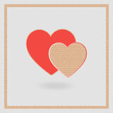 Cardboard heart on a gray background. Love Stock Image