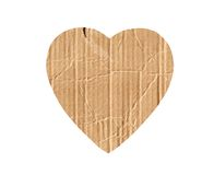 Cardboard heart isolated on white Royalty Free Stock Image