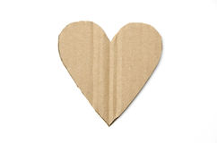Cardboard heart Stock Photo