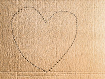 Cardboard heart Royalty Free Stock Photography