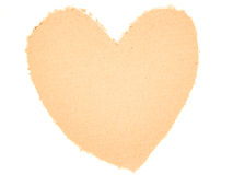 Cardboard heart Royalty Free Stock Photos