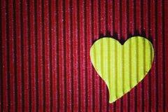 Cardboard heart shape Stock Photography