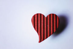 Cardboard heart shape Stock Photos