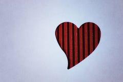 Cardboard heart shape Royalty Free Stock Photography