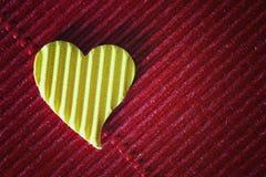 Cardboard heart shape Stock Image