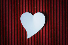 Cardboard heart shape Stock Images