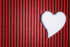 Cardboard heart shape Royalty Free Stock Photos