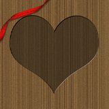 Cardboard Heart Shaped Valentine Frame Stock Photos