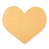 Cardboard heart on a white background. Valentine Stock Photo